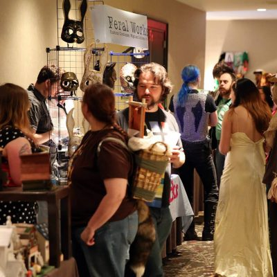 Shoppers at the Maker Market
