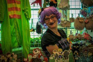 Maker at her maker market table