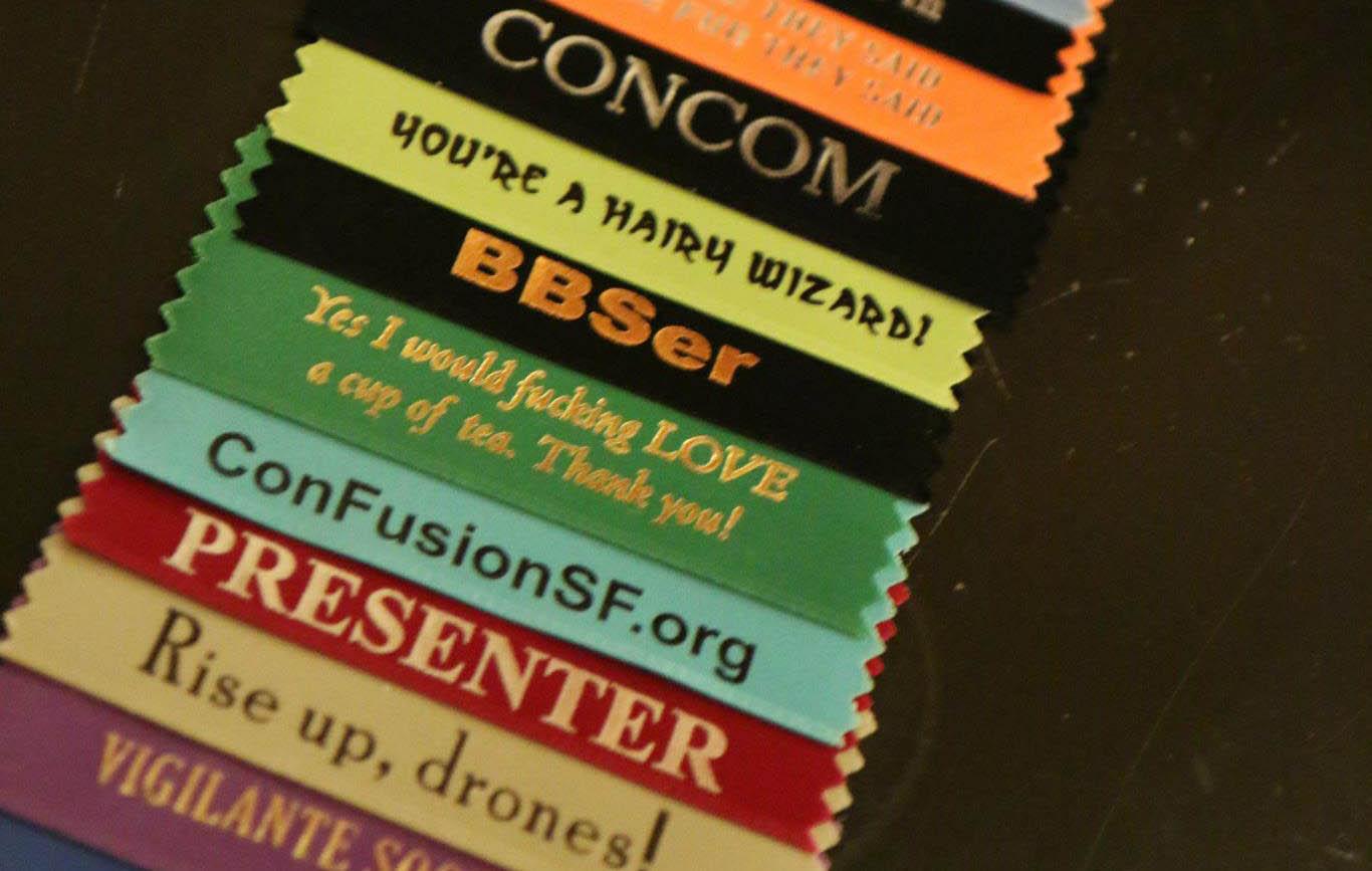 closeup of ribbons