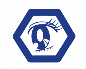 Anime track logo of an eye
