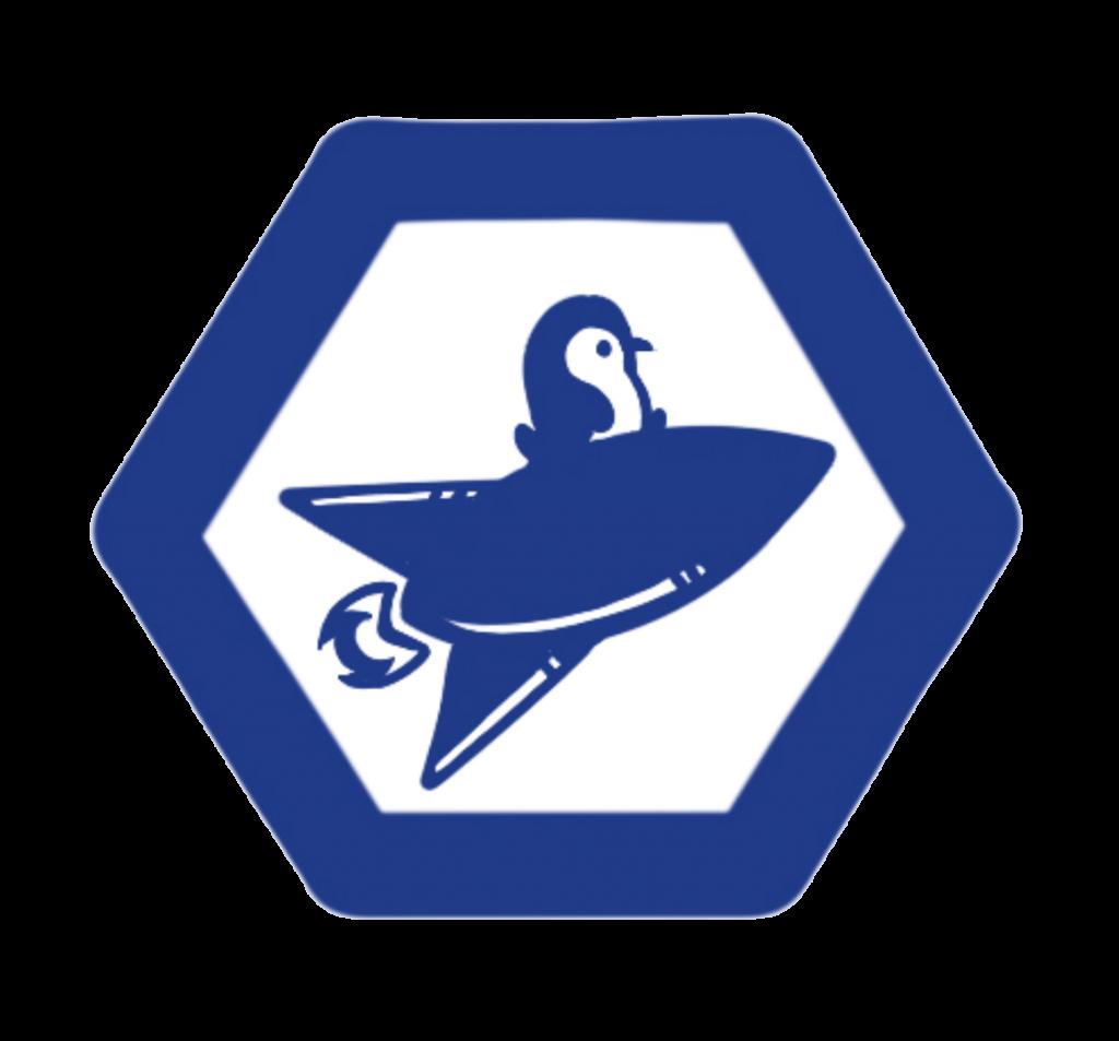 Penguicon track logo of penguin on spaceship